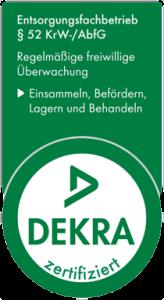 DEKRA-Zertifikat.